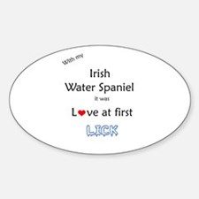 Water Spaniel Lick Oval Decal