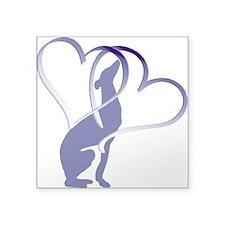Greyhound Hearts Sticker