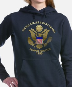 uscg_flg_d4.png Women's Hooded Sweatshirt