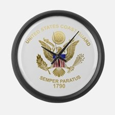 uscg_flg_d4.png Large Wall Clock