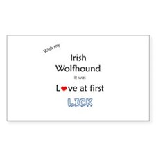 Wolfhound Lick Rectangle Decal