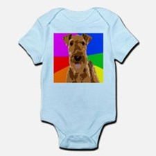 Rainbow Airedale Terrier Body Suit