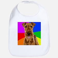 Rainbow Airedale Terrier Bib