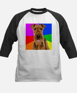 Rainbow Airedale Terrier Baseball Jersey