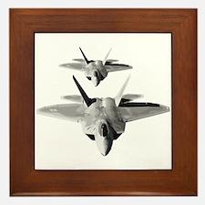 Two F-22 Raptors in Flight Framed Tile