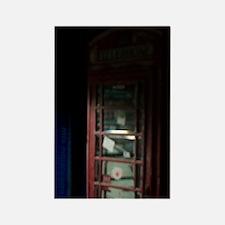 Vintage phonebooth Rectangle Magnet