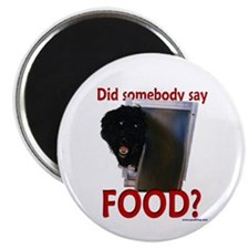 Hungry Portuguese Water Dog Magnet