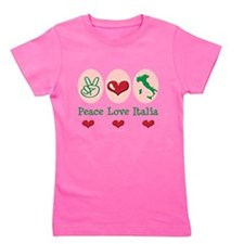 Cool Peace love soccer Girl's Tee