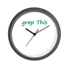 Grep This Wall Clock