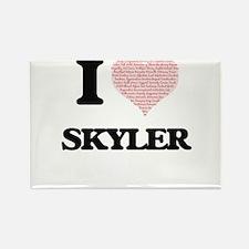 I love Skyler (heart made from words) desi Magnets