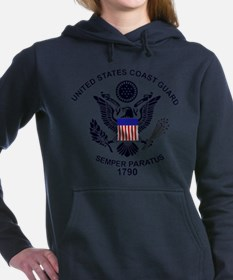 uscg_flg_d1.png Women's Hooded Sweatshirt