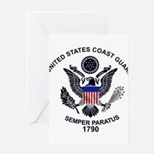 uscg_flg_d1 Greeting Cards