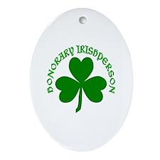 Honorary Irishperson Oval Ornament