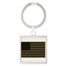 US Flag OD Patch Keychains