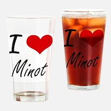 Cute Minot Drinking Glass