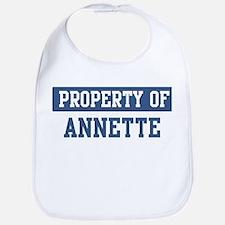 Property of ANNETTE Bib