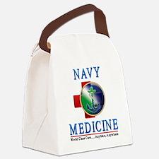 navy_medicine2.png Canvas Lunch Bag