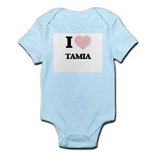 I love Tamia (heart made from words) des Body Suit
