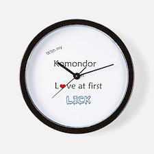 Komondor Lick Wall Clock
