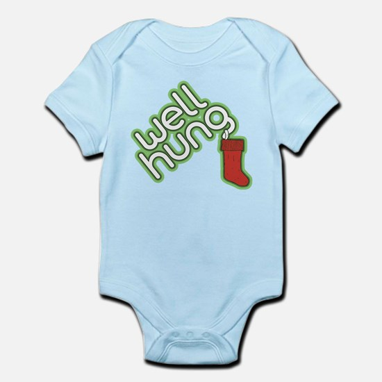 Funny Christmas - Well Hung Baby Light Bodysuit