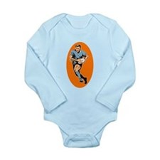 Cool Rugby Long Sleeve Infant Bodysuit