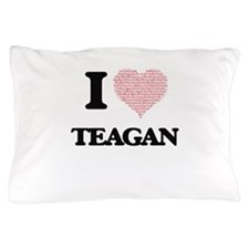 I love Teagan (heart made from words) Pillow Case