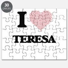 I love Teresa (heart made from words) desig Puzzle