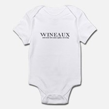 Wine Lover - Wineaux Text Only Infant Creeper