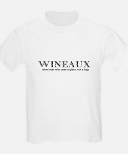 Wine Lover - Wineaux Text Only Kids T-Shirt