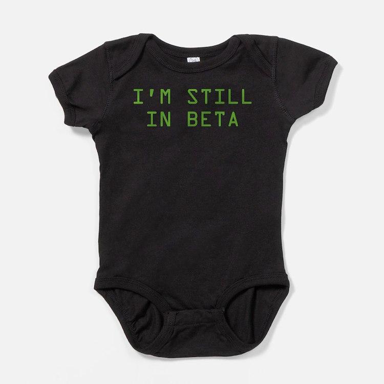 Cute Geek beta Baby Bodysuit