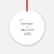 Leonberger Lick Ornament (Round)