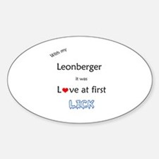Leonberger Lick Oval Decal