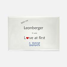 Leonberger Lick Rectangle Magnet