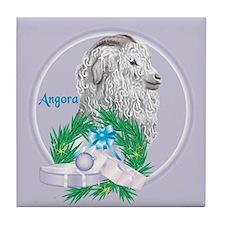 Angora Goat Gruffly Tile Coaster