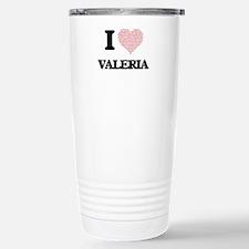 I love Valeria (heart m Travel Mug