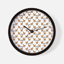 Llama Mania Wall Clock