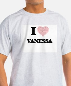 I love Vanessa (heart made from words) des T-Shirt