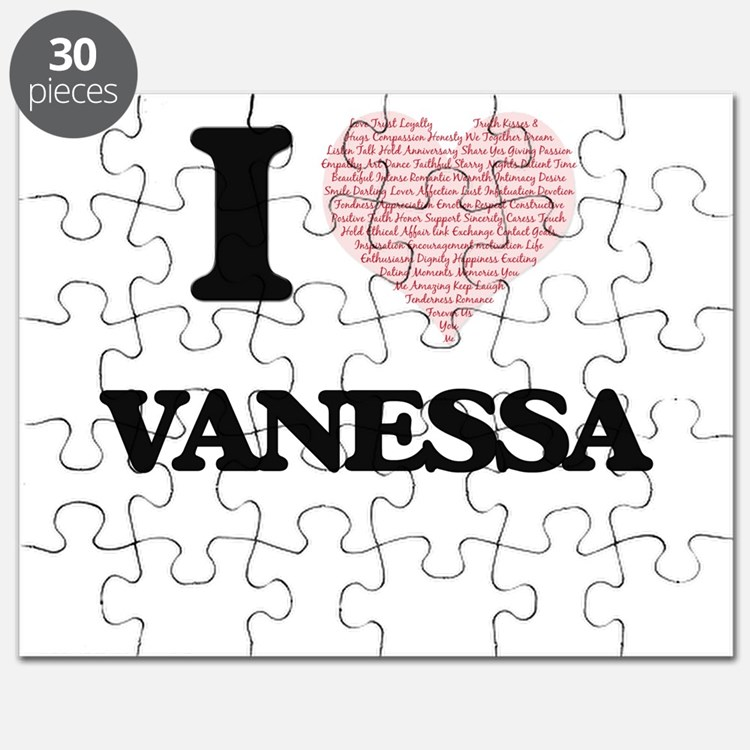 I love Vanessa (heart made from words) desi Puzzle