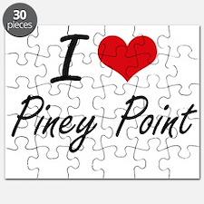 I love Piney Point Massachusetts artistic Puzzle