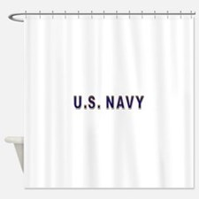 us_navy2.png Shower Curtain