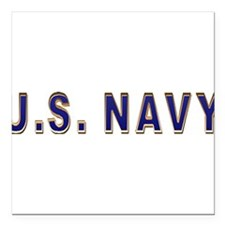 """us_navy2.png Square Car Magnet 3"""" x 3"""""""
