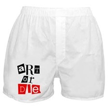 ART OR DIE Boxer Shorts