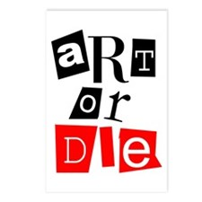 ART OR DIE Postcards (Package of 8)