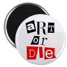"""ART OR DIE 2.25"""" Magnet (100 pack)"""