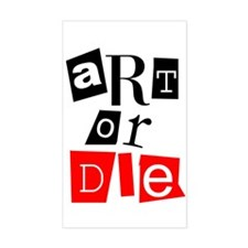 ART OR DIE Rectangle Decal