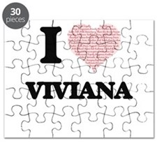 I love Viviana (heart made from words) desi Puzzle