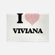 I love Viviana (heart made from words) des Magnets
