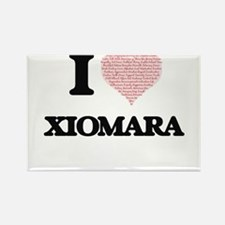 I love Xiomara (heart made from words) des Magnets