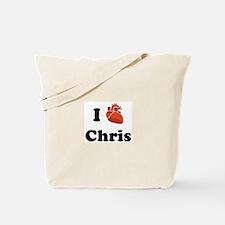 I (Heart) Chris Tote Bag