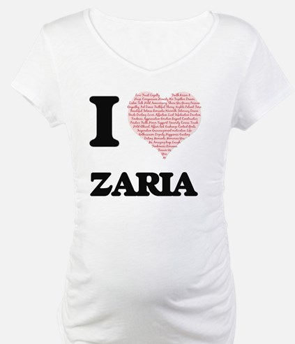 I love Zaria (heart made from wo Shirt